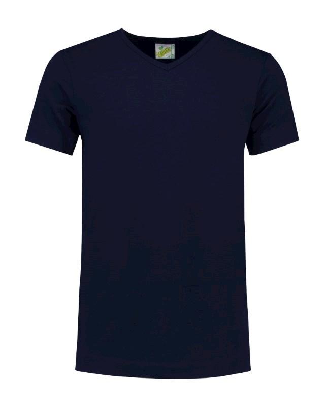 L&S T-shirt V-neck cot/elast SS for him