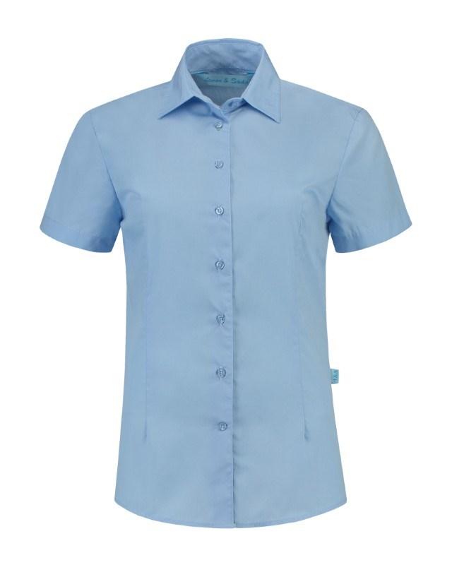 L&S Shirt Poplin Mix SS for her