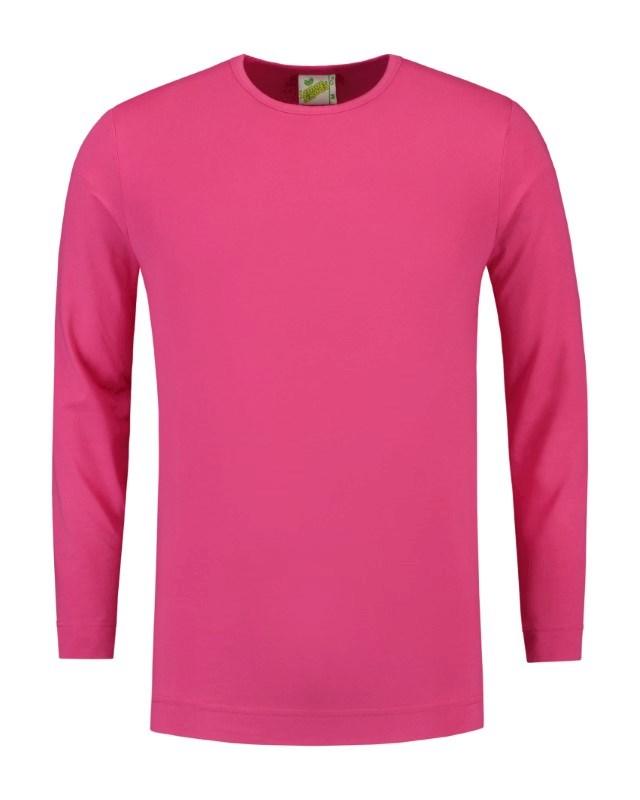 L&S T-shirt Crewneck cot/elast LS for him