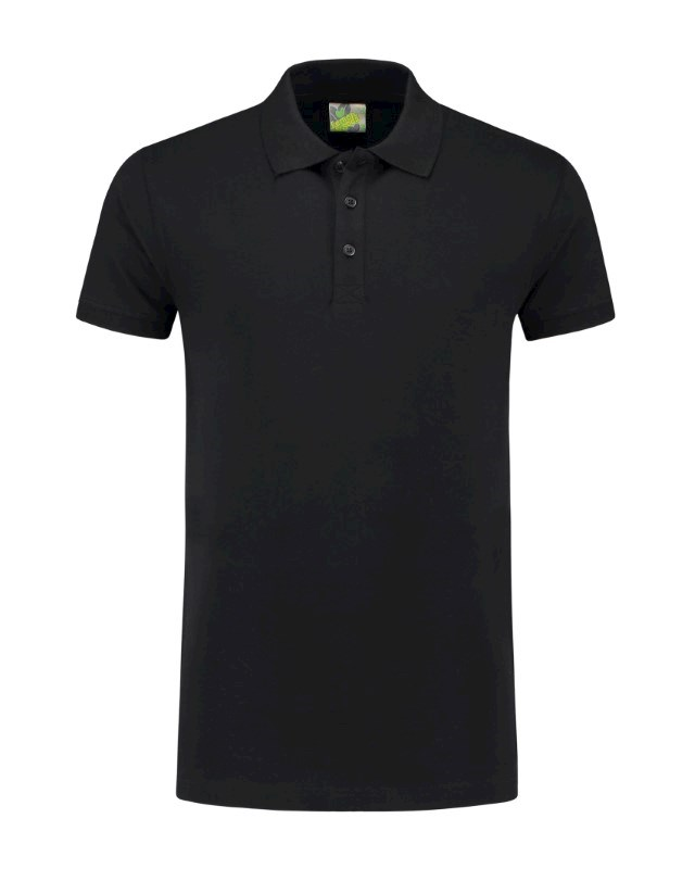 L&S Polo Basic Cot/Elast SS for him