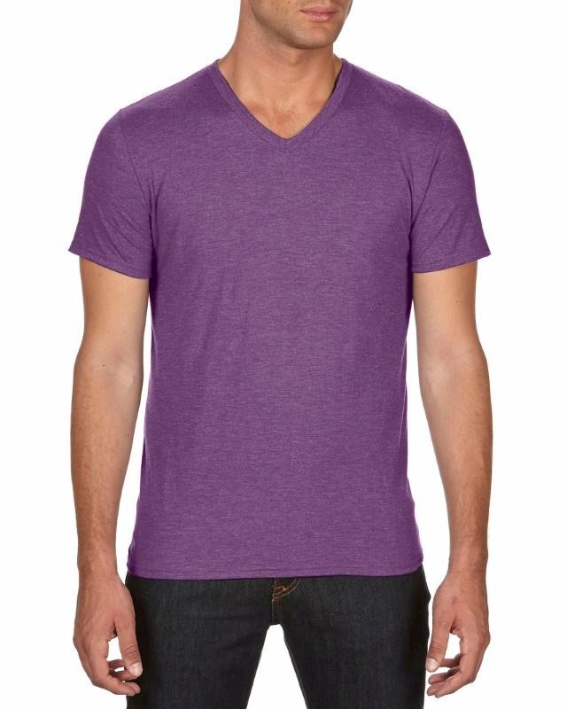 Anvil T-shirt V-neck TriBlend SS for him