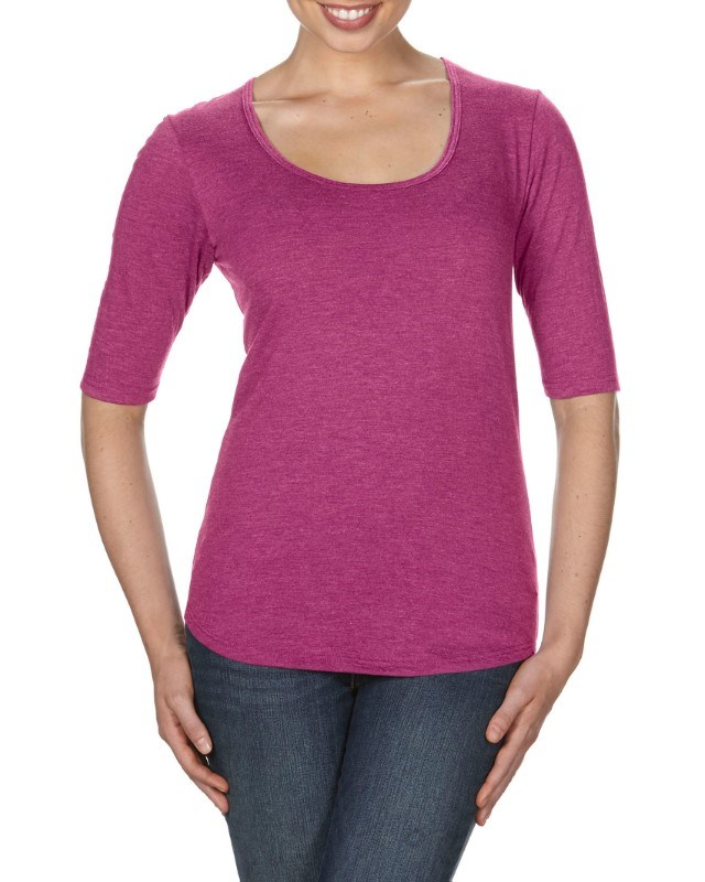 Anvil T-shirt Scoop TriBlend 1/2 Sleeve