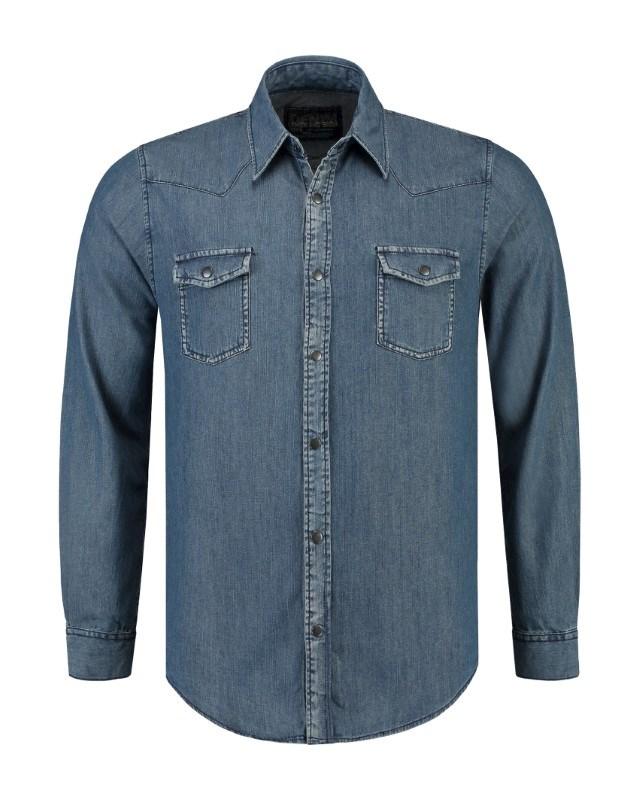L&S Denim Shirt LS for him