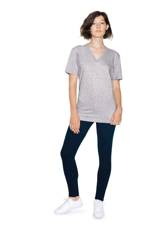 AMA T-shirt V-neck Fine Jersey Unisex