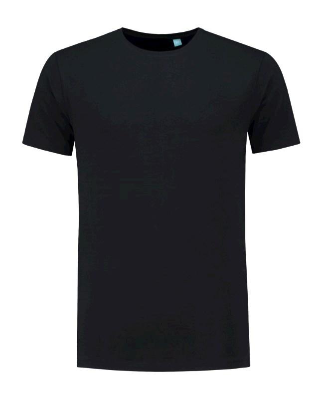 L&S T-shirt crewneck fine cotton elasthan