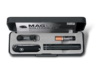 Maglite Set Solitaire LED + Victorinox Classic SD