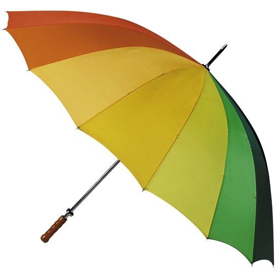 golfparaplu, regenboogkleuren