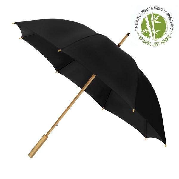 ECO by IMPLIVA, bamboe, windproof, Ø102 cm, zwart