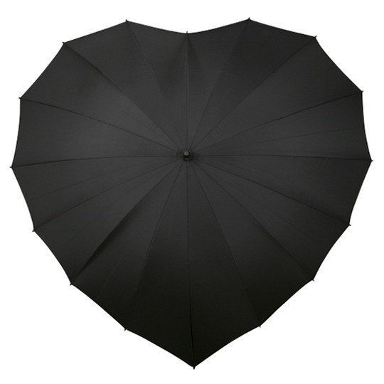 SALE paraplu, hartvormig, windproof