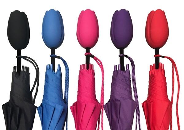 Falconetti® tulpparaplu, automaat, assorti verpakt