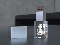 USB CRYSTAL 3D (64GB) 3.1