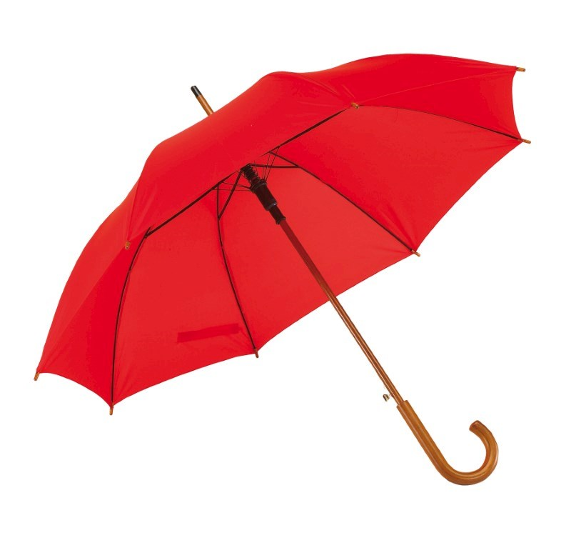 Autom. woodenshaft umbrella