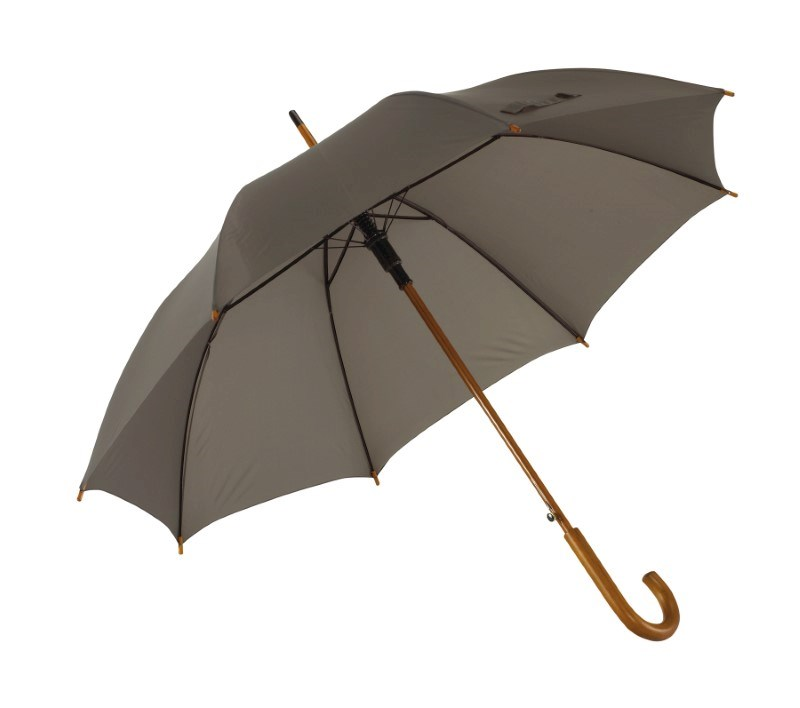 Autom.woodenshaft umbrella