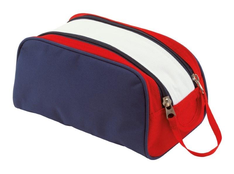 Toilet bag,600-D,'Marina' blue/white/red