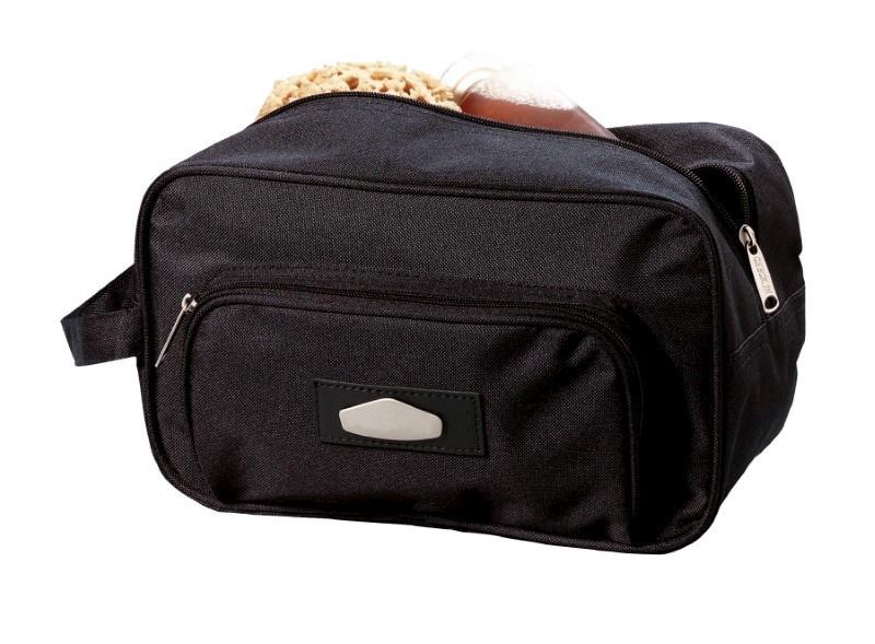 Toilet bag,600-D,'Laser Plus' black