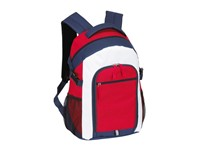 Backpack 'Marina' 600D, white/blue/red