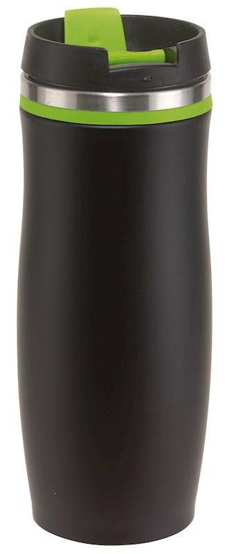 Flask 'dark Crema', green