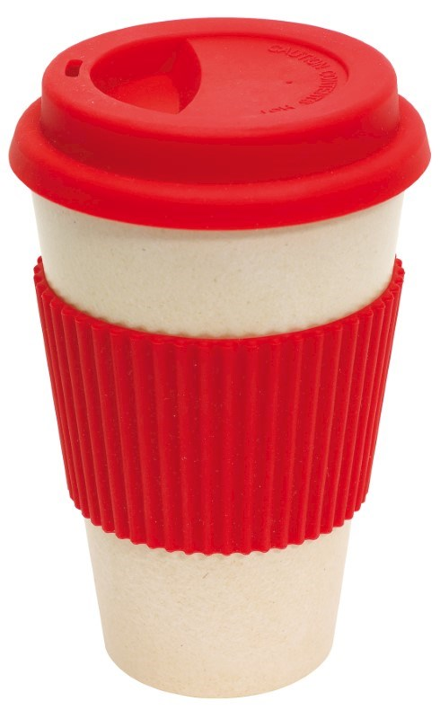 coffee mug , 400ml red