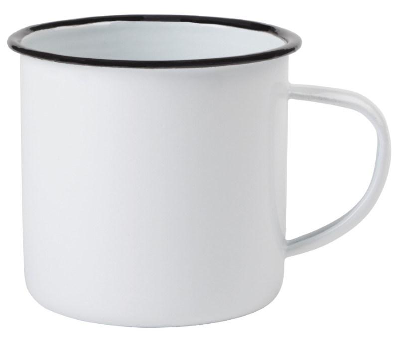 Enamel mug white