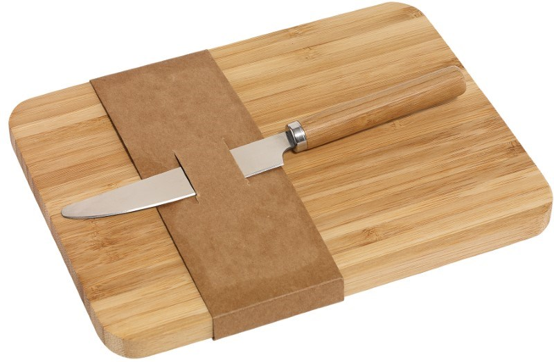 cutting board w. knife