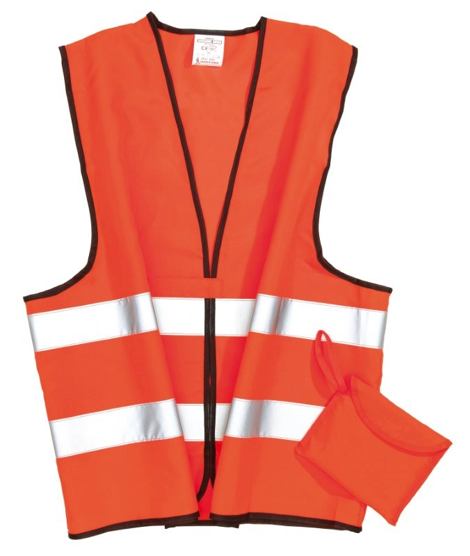 Emergency vest, neon orange