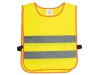 Veiligheidsvest voor kinderen MINI HERO, geel, grijs, oranje