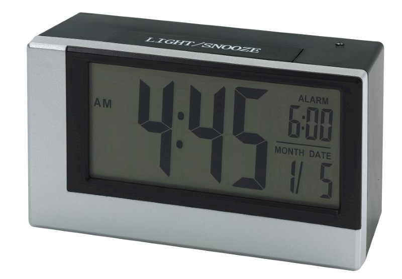 Alarm clock w. light sensor