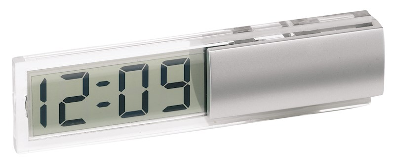 Desk clock w/ transparent LCD