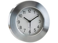 Alum. wall clock, round,