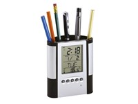 LCD alarm clock/ pen holder