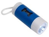 Flashlight w. waste bags DOGS HELPER,blu