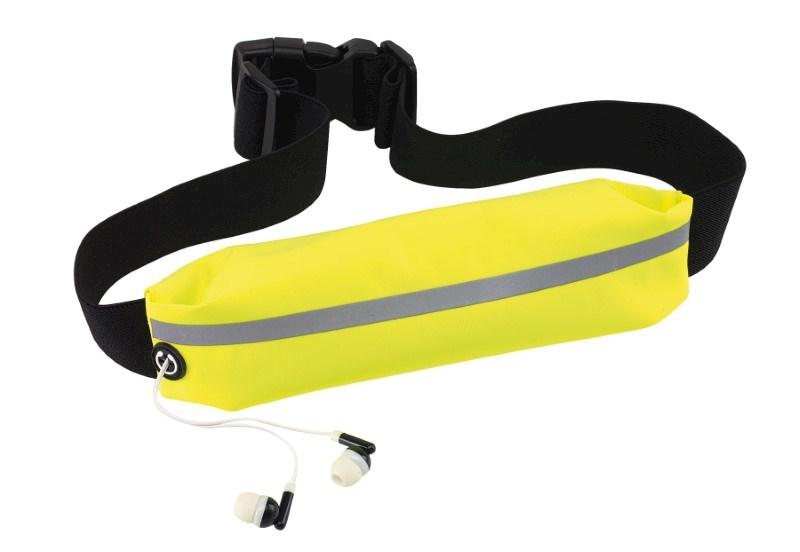 Sport waist bag SEE ME, neon yellow