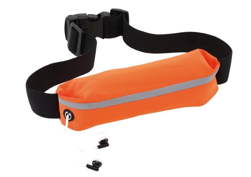 Sport waist bag SEE ME, neon orange