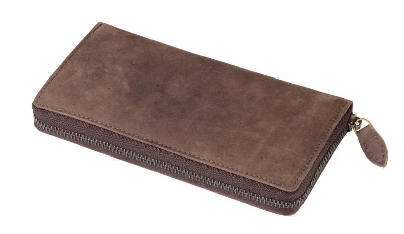 Purse Genuine Leather LADY, brown