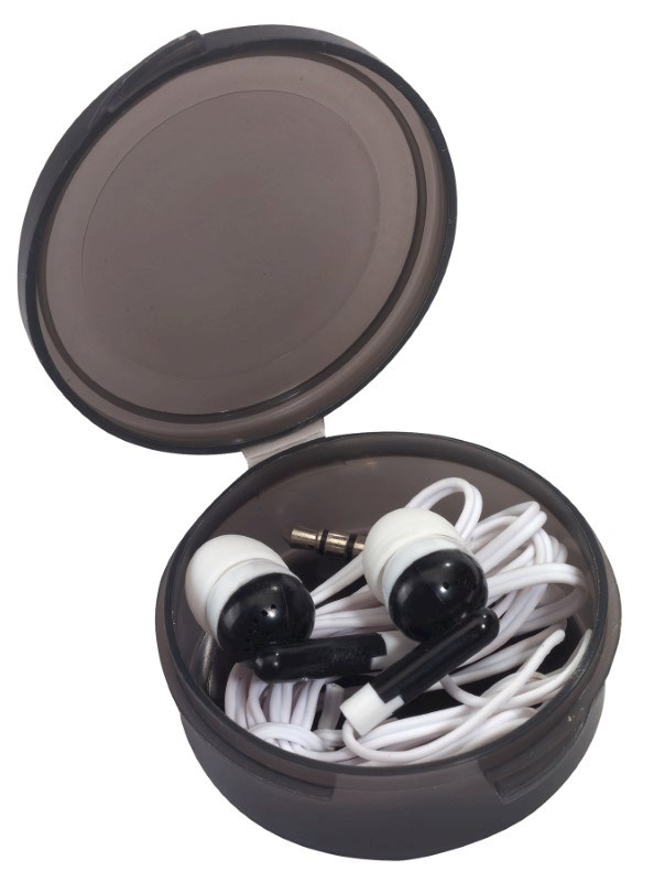 In Ear headphones MUSIC, frost black