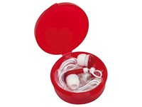 In Ear headphones MUSIC, frost red