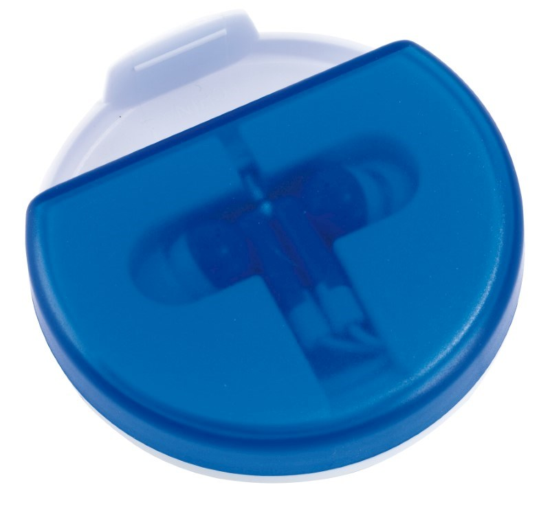 In Ear headphones w/phone stand, blue