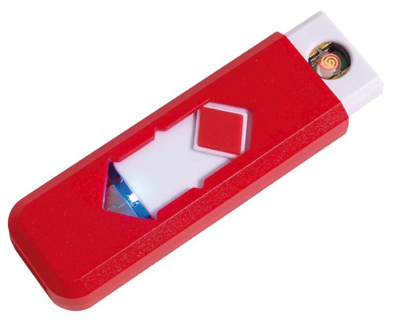 USB cigarette lighter FIRE UP, red