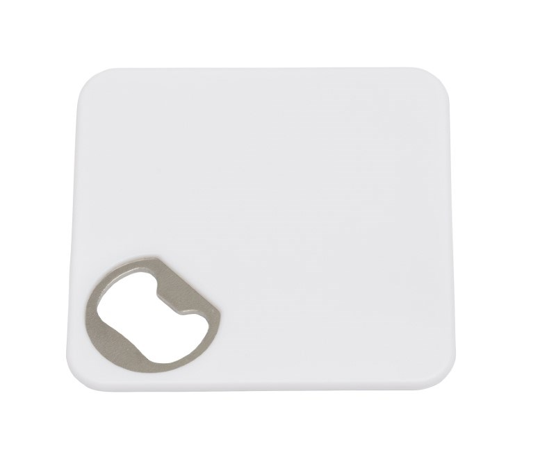 Coaster w. opener TOGETHER, white