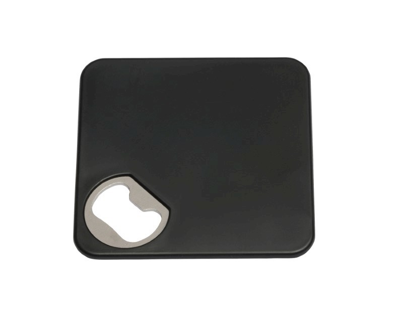 Coaster w. opener TOGETHER, black
