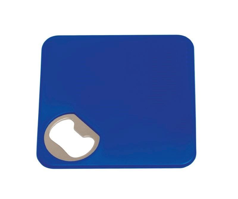 Coaster w. opener TOGETHER, blue