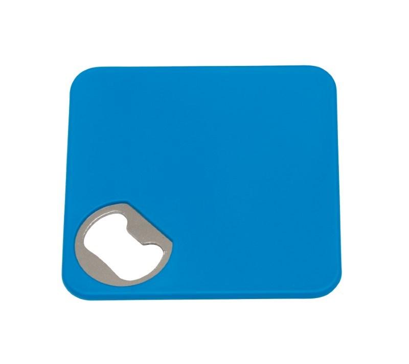 Coaster w. opener TOGETHER, light blue
