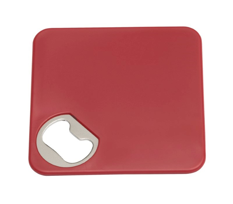 Coaster w. opener TOGETHER, red