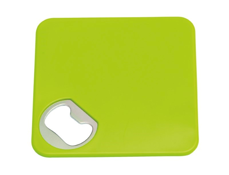 Coaster w. opener TOGETHER, apple green