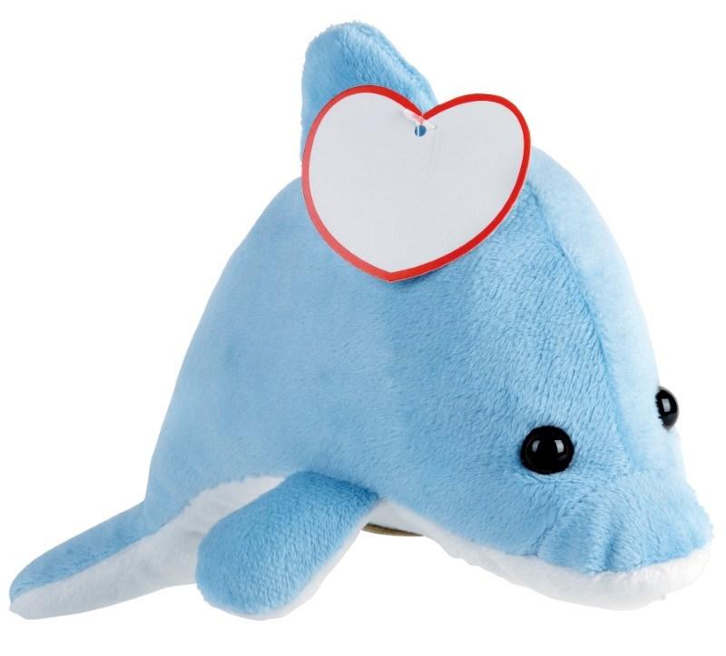 Pluche dolfijn OCEAN IDA, blauw