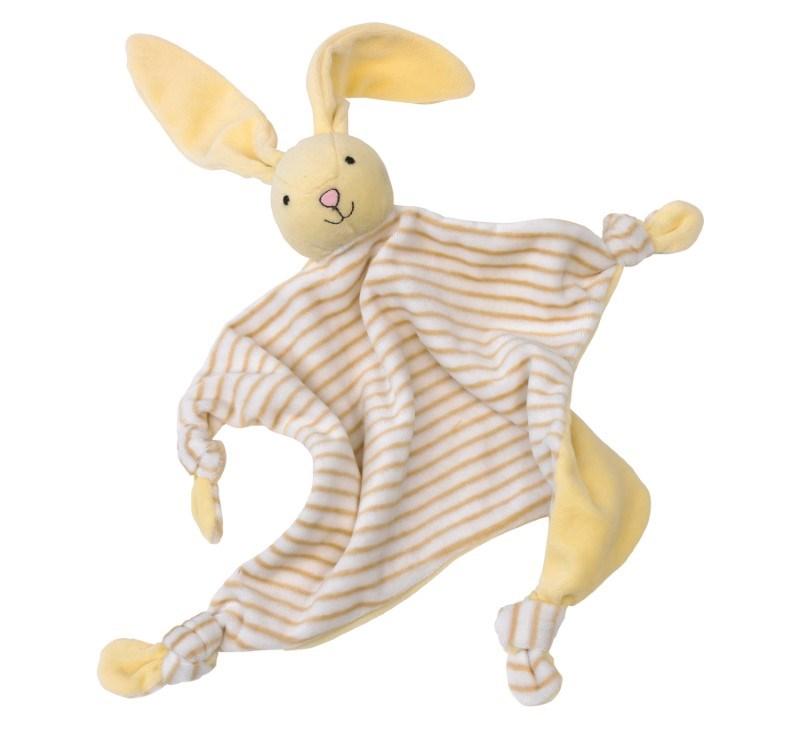 Cuddling rabbit