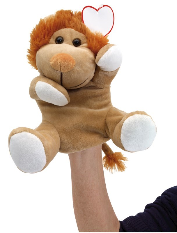 plush hand-puppet lion