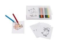 Paint set with 8 colour pencils