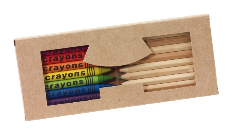19pcs natural wooden coloured pencils +
