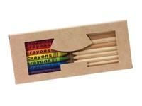 19pcs natural wooden coloured pencils +